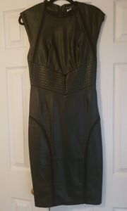 Womens faux leather dress